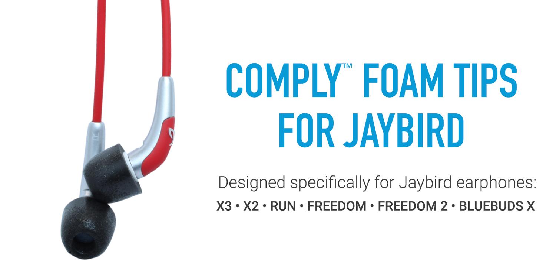 2 pairs Memory Foam Ear Tips Buds For Jaybird Freedom 2 F5 Wireless Headphones