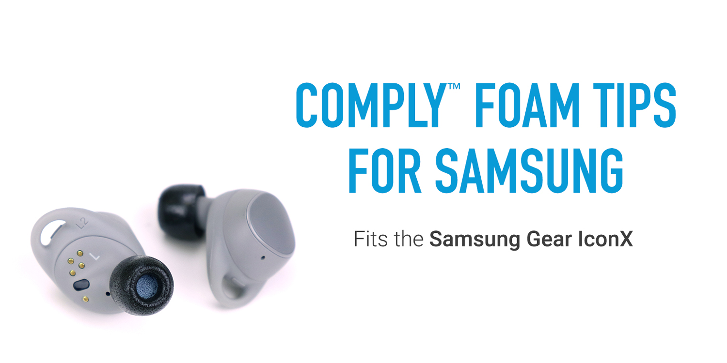 Comply TrueGrip Foam Eartips for Samsung Gear IconX