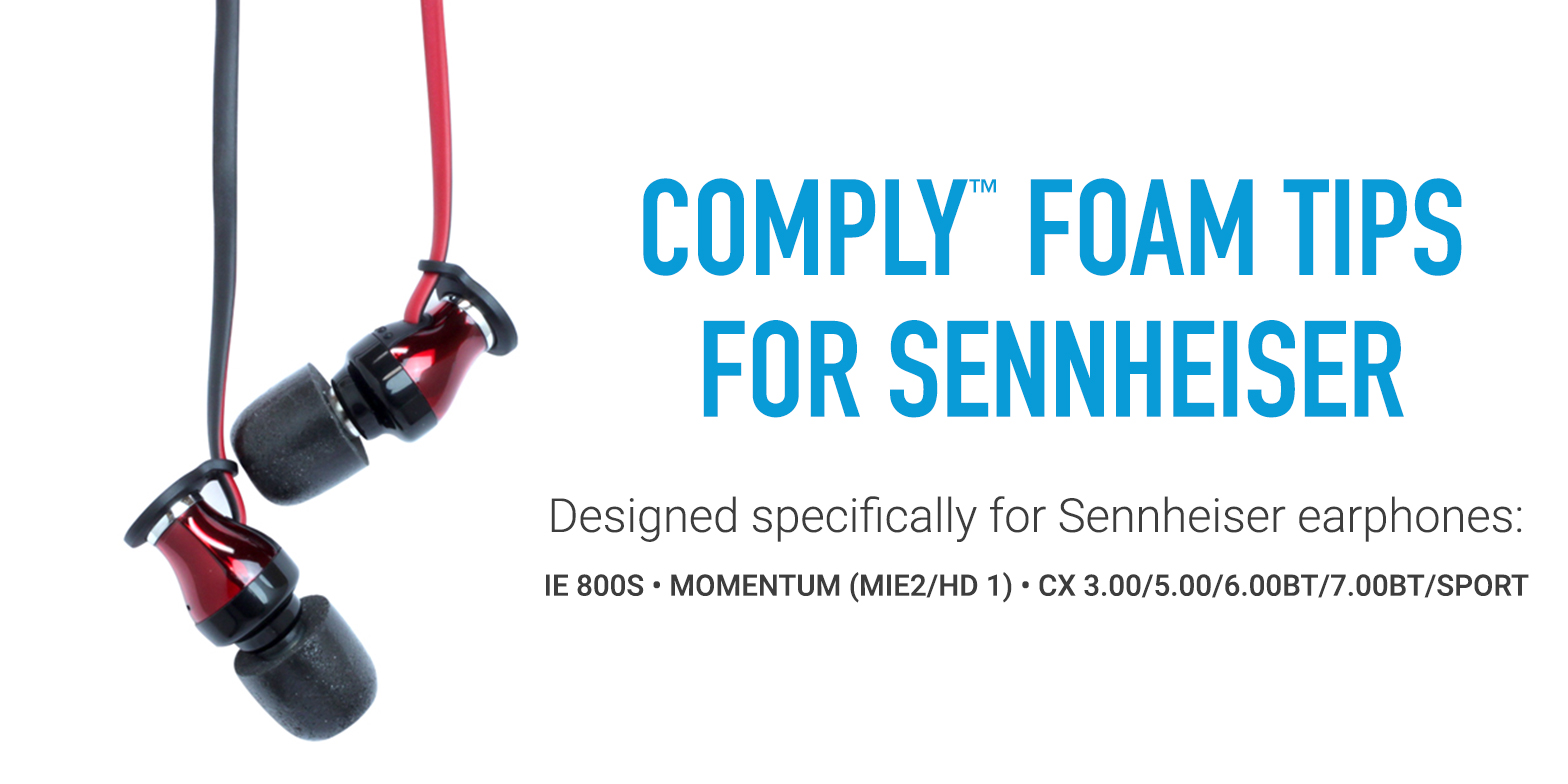 Custom Comply Isolation Tips for Sennheiser