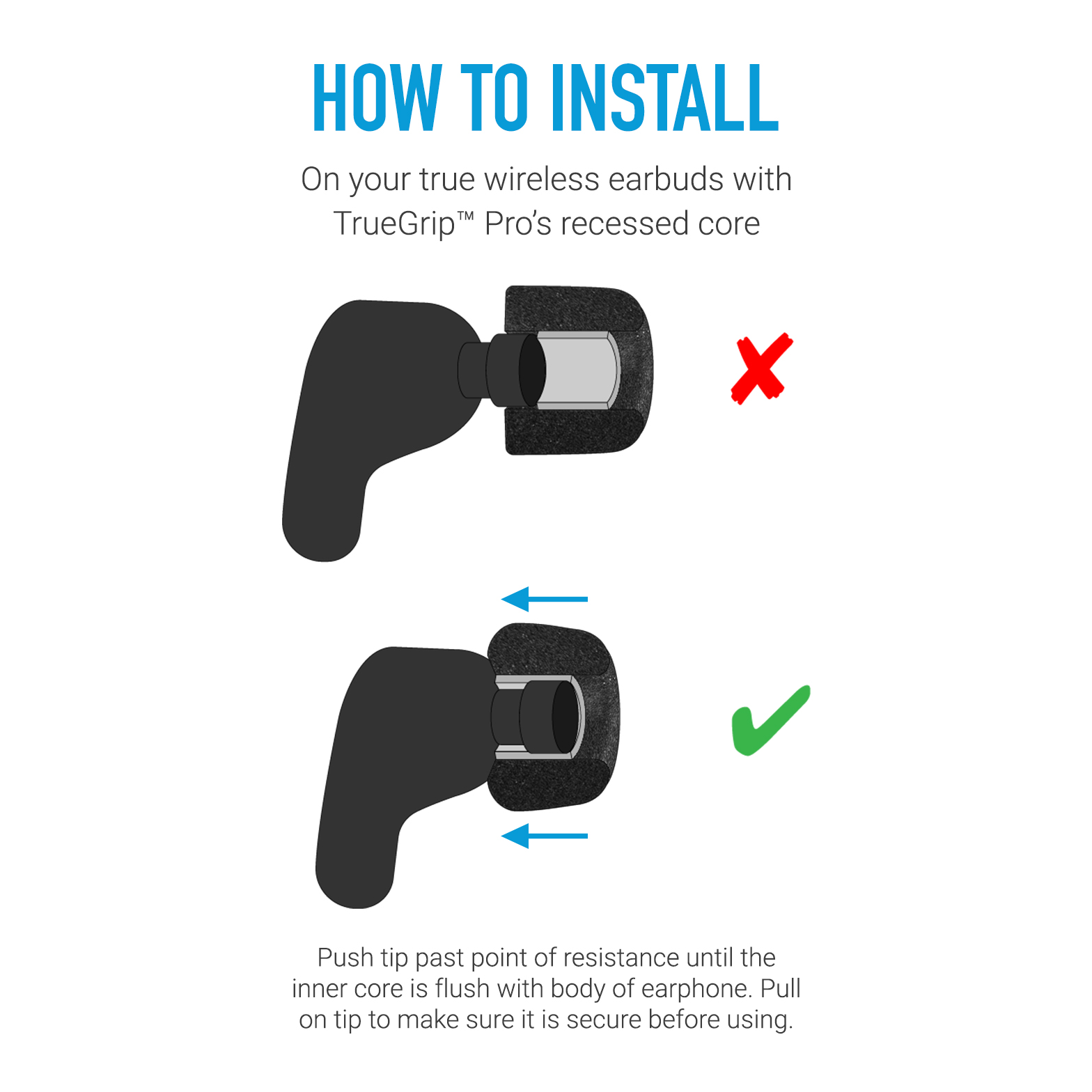 How to Install TrueGrip Pro for Jabra, JBL, RHA, Sennheiser, Samsung, Sony