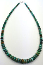 Native American Turquoise Necklace Graduated