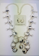 White Buffalo Squash Blossom Necklace and Earrings