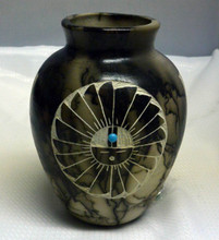 Ginger Jar Vase Horsehair Pottery