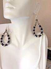Navajo Pearl Lapis Earrings