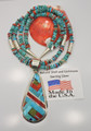 Daniel Coriz Multi Stone Turquoise Inlay Necklace