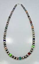 Multi Stone Navajo Pearl Necklace