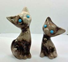 Horse Hair Pottery Cat set