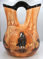 Jame Benally Wedding Vase Navajo Native American Pottery Horse