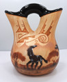 Native American Navajo Wedding Vase Pottery by James  Benally