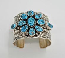 Tillie John Kingman Turquoise Cuff Bracelet