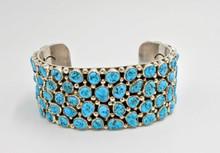 Kingman Turquoise Bracelet by Marlene Haley Navajo