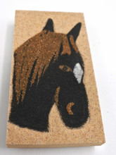 Horse Head Magnet Sand painting Native American Navajo
