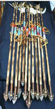 Handmade  Beaded Antiqued Style Navajo Arrow  with stone Tip