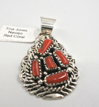 Mediterranean Red Coral Pendant Tina Jones