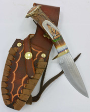 "Ken Richardson Knife Handmade In USA  4"" Blade Leather Sheath"