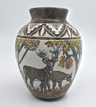 Everson Whitegoat Pottery  Navajo  Deer