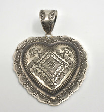 Vincent Platero Pendant Navajo Sterling Silver