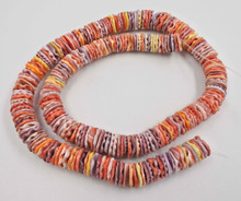 Multicolored Pectin Shell Heishi Beads  8 mm 18 Inches Strand