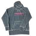 Longhorn Gear |  Acid Wash Hoodie | Pink Logo | 201010