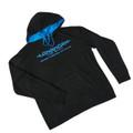 Longhorn Gear |  Black and Blue Hoodie | Blue Logo | 201011