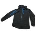Longhorn Gear |  Ladies' Black and Electric Blue  1/2 Zip Hoodie | Blue Logo | 201012