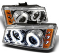Chevy Chrome Halo and LEDs with Projector Headlights(02-07 Classic)
