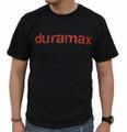 DuramaxGear - Distressed Duramax Tee - Black and Red (T14008-R)