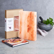Salt Block + Cook Book Gift Set