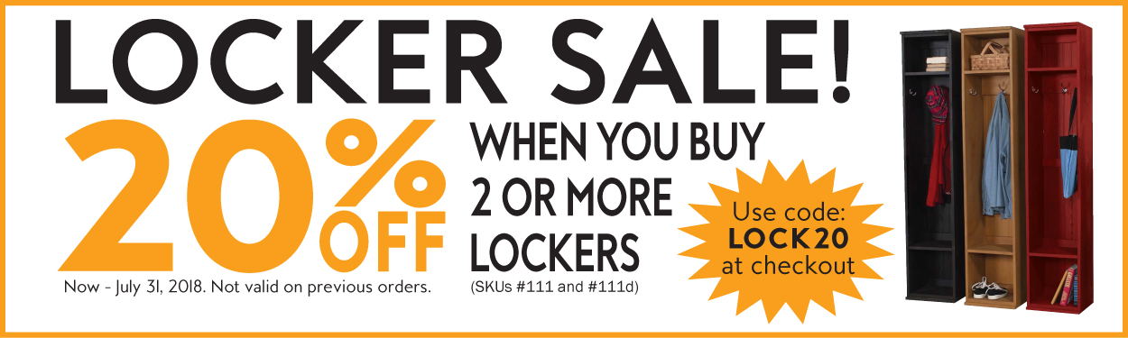 20% off 2 or More Lockers - LOCK20 at checkout
