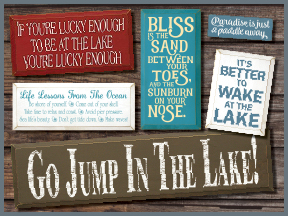 Wooden Beach And Lake Wooden Signs With Sayings And Quotes