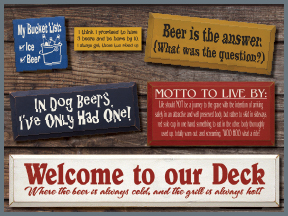 Wooden Beer Signs With Sayings And Quotes