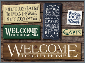Cabin And Cottage Wooden Signs With Sayings And Quotes