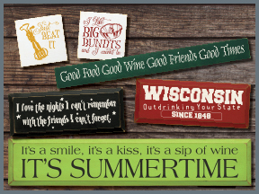 Wooden Food And Drink Signs With Sayings And Quotes