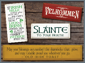 Irish, Scottish, German, Norwegian, Wooden Signs With Sayings And Quotes