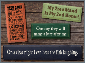 Hunting And Fishing Wooden Signs With Sayings And Quotes