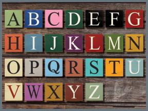 Wooden Alphabet Signs - Monogram Letter Signs
