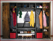 Solid Wood Mudroom Wall Storage With Bench