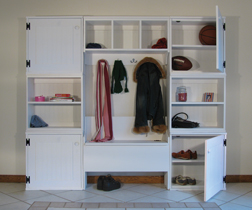 Solid Wood Mudroom Storage Cabinets
