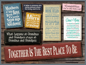 Grand Parent And Parent Wooden Signs With Sayings And Quotes