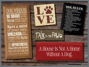 Wooden Pet Signs With Sayings And Quotes