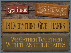 Thanksgiving Wood Signs With Sayings and Quotes