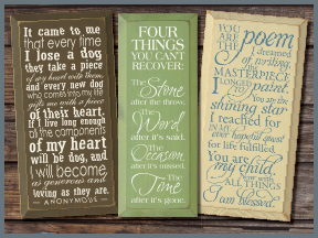 Tall Skinny Wood Signs With Sayings And Quotes