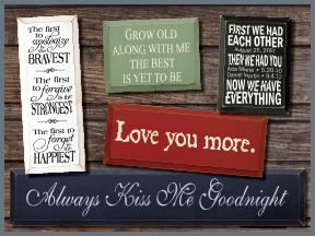 Wedding And Anniversary Wooden Signs With Sayings And Quotes