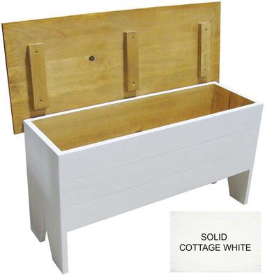 Wooden Storage Bench 3u0027 long. Shown in Solid Cottage White  sc 1 st  Sawdust City LLC & Wooden Storage Bench 3u0027 long - Sawdust City LLC