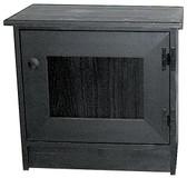Shown in Old Black with beadboard door