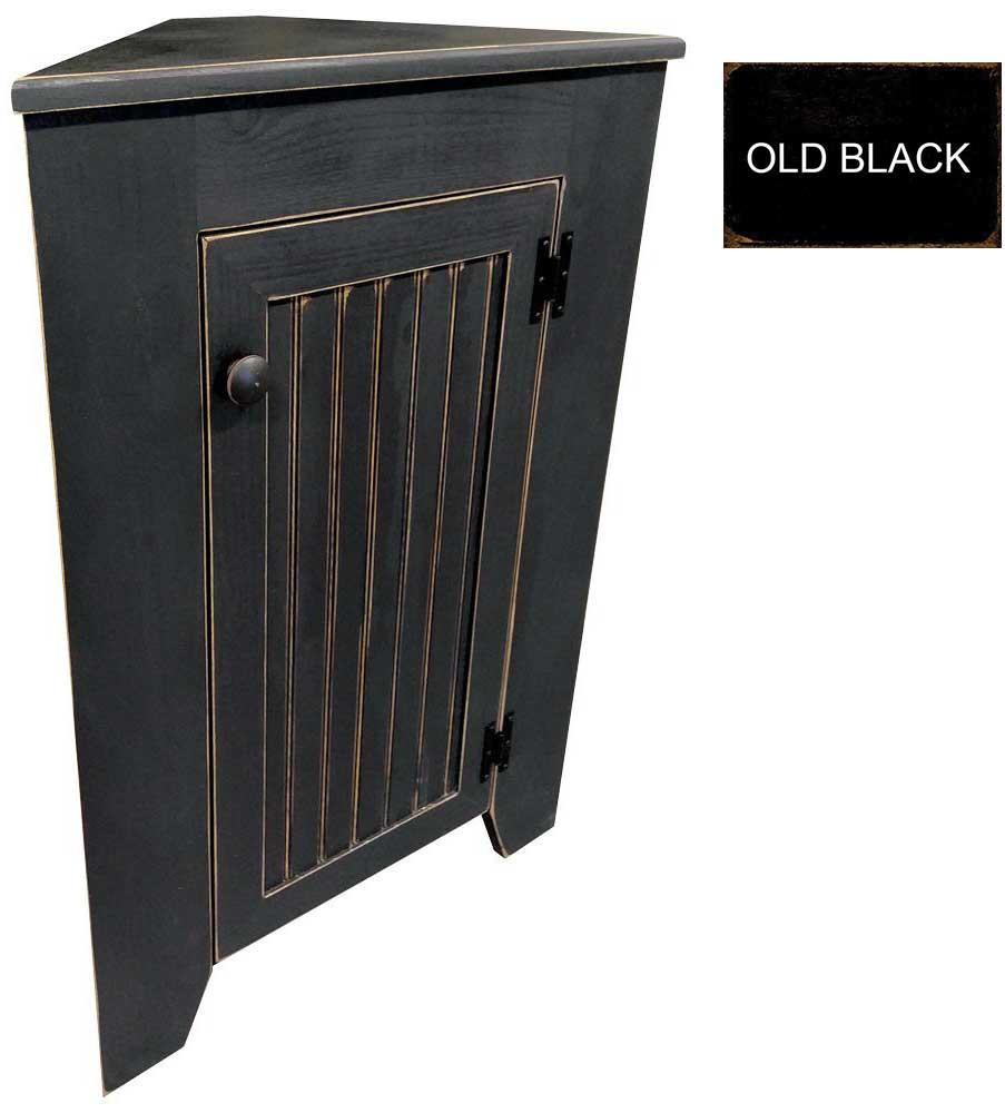 Small corner cabinet shown in old black loading zoom