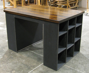 Ordinaire CUSTOM   Craft Table. Shown In Old Black With A Walnut U0026 Poly Top