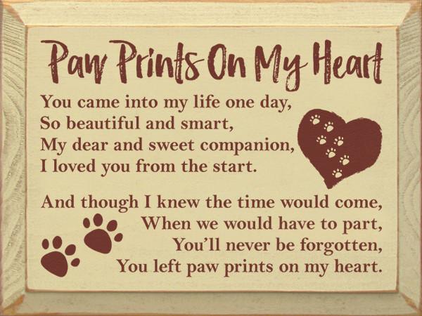 Paw prints on my heart poem