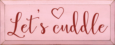 Shown in Old Baby Pink with Red Lettering
