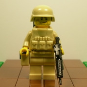 Smirky Minifigure Soldier